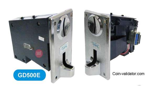 Vending machine multi coin acceptor selector