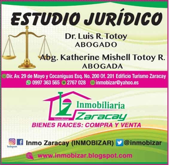 """Asistencia juridica especializada y consultoria inmobiliaria """"inmobizar"""". 0997363565"""