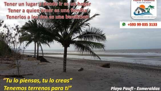 Terrenos frente al mar playa paufi esmeraldas