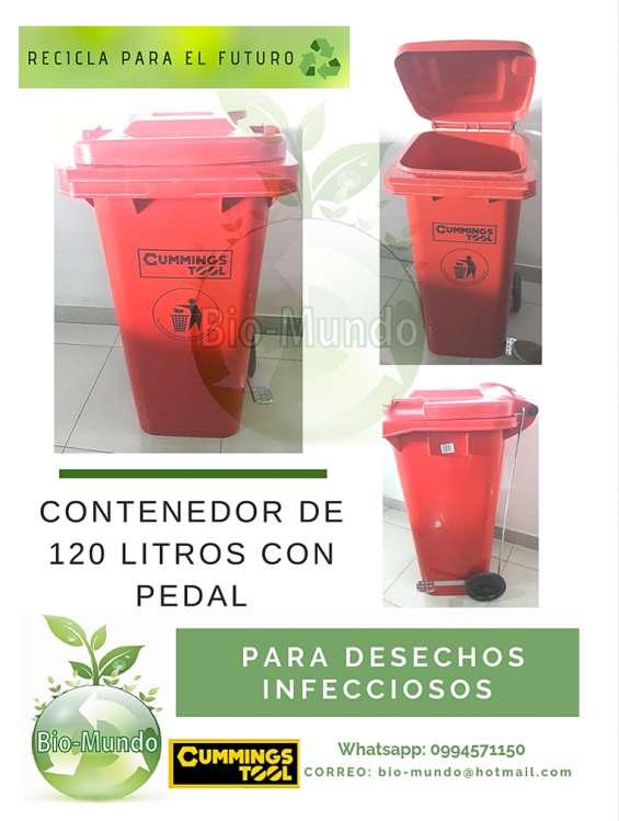 Contenedores 120 litros, puntos ecológicos, químicos