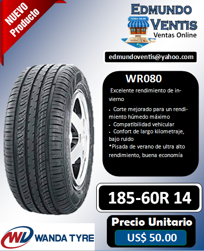 Llantas wanda tyres 185-60r 14 modelo wr080