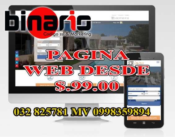 Paginas web ambato desde 99 usd hosting gratis