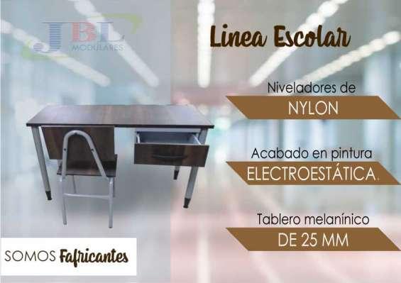 Mueble de oficina linea escolar madera melaminica jbl modulares