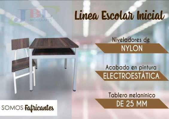 Mueble de oficina linea escolar madera melaminica