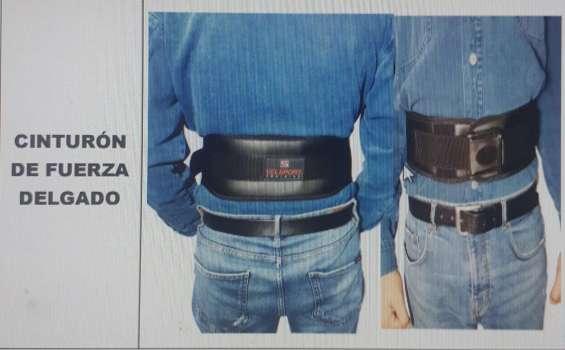 Cinturón de fuerza delgado para protección de columna