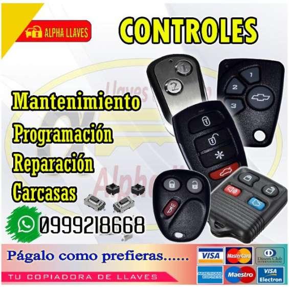 Controles de autos programación, reparación, mantenimiento