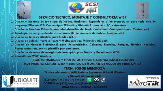 """Servicio técnico, diseño, montaje y consultoria wisp """"scsi-net"""""""
