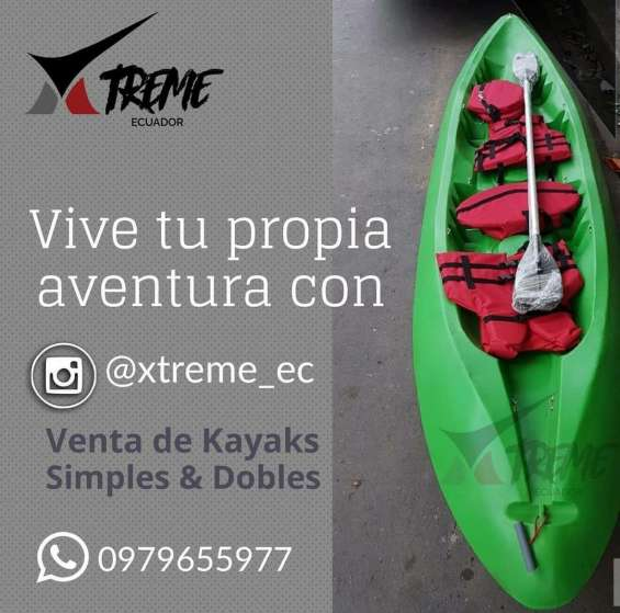 Venta de kayaks para dos persona