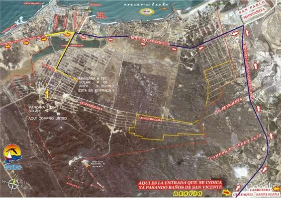 Esta ubicado al frente a punta centinela y entran al frente x la urbanizacion taos donde esta ubicado mi terreno es el de la flecha amarilla mz 767 sl 9 area 250 mt.2.