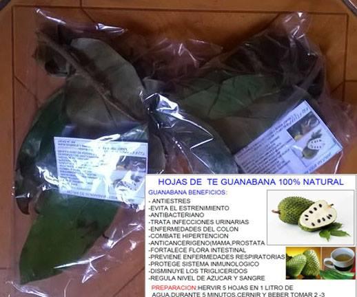 Hojas de te de guanabana producto 100% natural:combate el stress,evita el estreñimiento,an