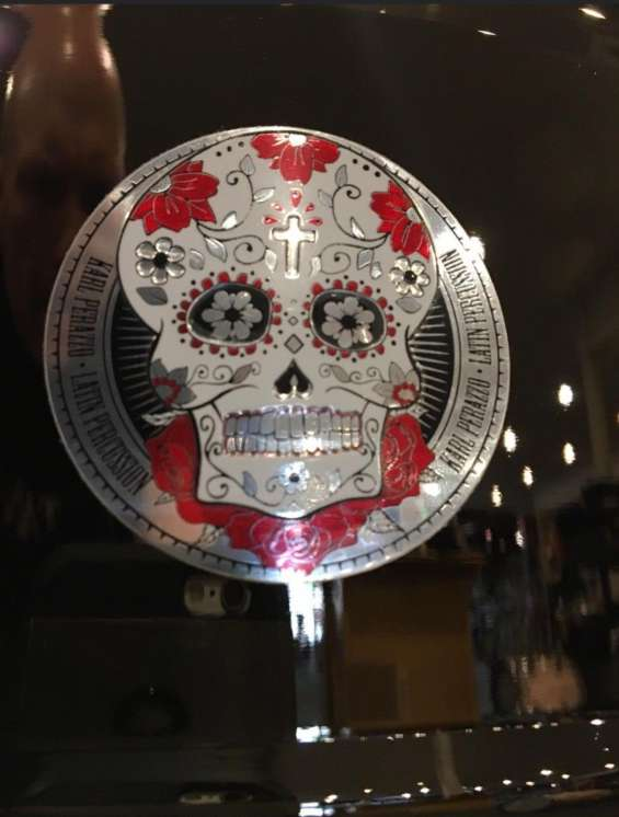 "2019 lp karl perazzo (santana) signature skull line timbales 14""-15"" with stand"