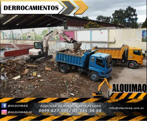 Derrocamienos, desbanques, apertura de vias, extraccion de troncos, nivelaciones, rellenos