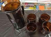 Jarra de cristal x4 vasos