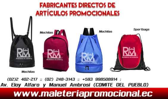 Fabrica de articulos promocionales en quito ecuador rm maletaria