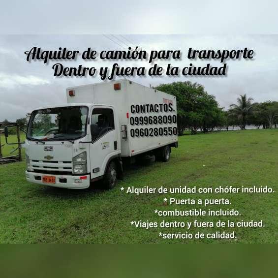 Alquiler de camión