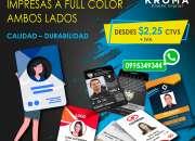 Tarjetas pvc - credenciales - identificaciones - carnets