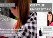 Oferta Universitaria Profesor capacitado y Abogado guia
